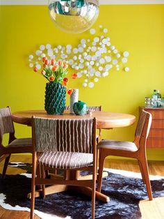 modern retro dining room midcentury dining room