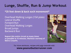 Lunge Burn Workout. Peanutbutterrunner.com