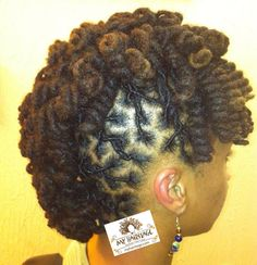 curly locs mohawk