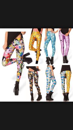 Ladies Womens Fashion Leopard Print Lace Ripped Inlay Cut Leggings Size UK 8-14