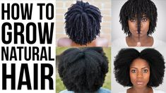How To Grow Natural Hair – 10 Tips For Longer, Stronger, Healthier Natural Hair The Right Way Black Hair Growth, Hair Growth Tips, Natural Hair Growth, Natural Hair Styles, Make Hair Grow, Grow Long Hair, African Natural Hairstyles, Afro Hairstyles, Growing Afro Hair
