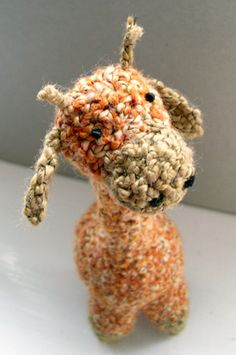 (almost) one piece giraffe, #crochet pattern available for free at Cult of Crochet.