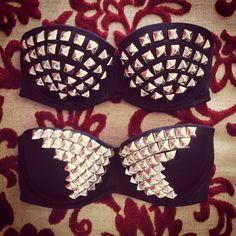 DIY studded bra