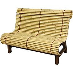 Curved Japanese Bamboo Bench - Wide selection of Room Dividers, Shoji Screens, Oriental and Asian Home Furnishings, Chinese Lamps and accessories at warehouse prices. Bamboo Furniture, Oriental Furniture, Furniture Design, Outdoor Furniture, Palette Furniture, Bench Furniture, Rustic Furniture, Garden Furniture, Furniture Ideas