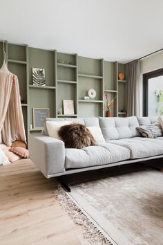 Home Decor Bedroom, Home Living Room, Ceiling Treatments, Diy Sofa, Scandinavian Interior, Lounge, Indoor, Couch, Furniture