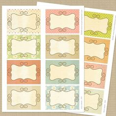 Printable Shabby Scrapbook Journal Cards / tags - by TracyAnnDigitalArt