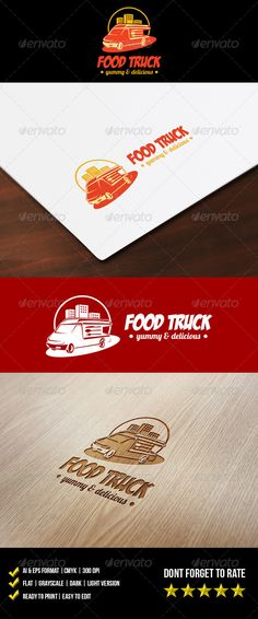 Food Truck Logo — Vector EPS #auto #food logo • Available here → https://graphicriver.net/item/food-truck-logo/5954453?ref=pxcr