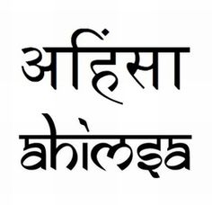 Ahimsa is a term meaning to do no harm or the avoidance of violence
