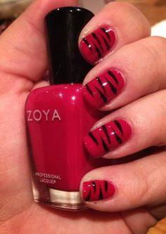 Tiger Stripe Nail Art with Zoya Nail Polish in Stacy