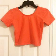 Orange crop top Never worn American Apparel Tops Crop Tops