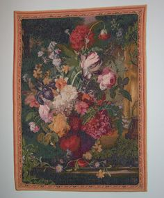 A tapestry in the dining room.