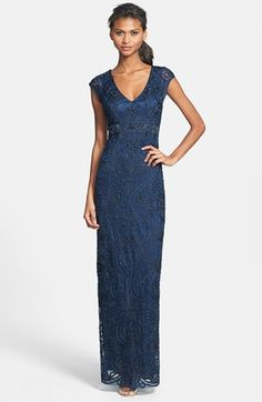 Sue Wong Embellished Illusion Back Gown available at #Nordstrom