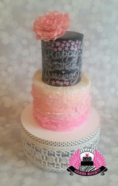 Chalkboard and Ruffles by Cakes ROCK!!!