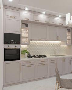 Open Plan Kitchen Living Room, Kitchen Room Design, Kitchen Cabinet Design, Modern Kitchen Design, Home Decor Kitchen, Interior Design Kitchen, Kitchen Furniture, Home Kitchens, Modern Kitchen Interiors