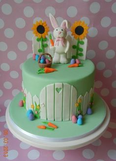 Images of Easter Bunny Birthday Cake - The Miracle of Easter Bunny Birthday Cake, Easter Bunny Cake, Easter Cookies, Easter Treats, Birthday Cakes, Peter Rabbit Cake, Cupcake Cakes, Cupcakes, Photo Deco
