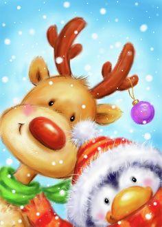Cute Christmas Cards, Cute Christmas Wallpaper, Christmas Animals, Christmas Mugs, Retro Christmas, Christmas Items, Christmas Pictures, Christmas Crafts, Christmas Decorations
