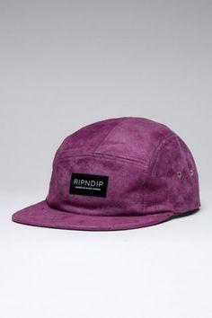RIPNDIP Purple Suede Camp Cap