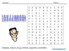 Sopa de letras para Halloween