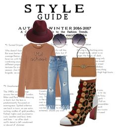 """""""Old Skool"""" by beverlyclm on Polyvore featuring Christian Louboutin, Lingua Franca, 3x1, Spitfire, Valentino and Justine Hats"""