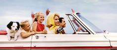 Jim Pond: Family in Convertible Somewhere in Texas, for Kodak's Colorama campaign, 1968