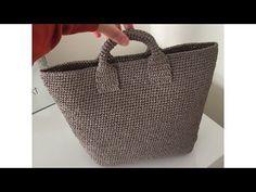 Making bags with paper rope - 3 - βιντεο τσαντες - Free Crochet Bag, Crochet Shell Stitch, Crochet Purses, Crochet Designs, Crochet Patterns, Crochet Shoulder Bags, Diy Sac, Bag Pattern Free, Patchwork Bags