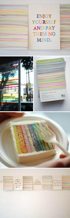 Pastel rainbow cake. #cakes #desserts