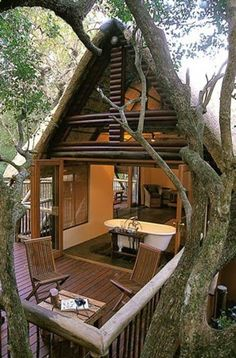 Hluhluwe River Lodge  Safari Adventures, South Africa - Honeymoon Chalet in the Trees