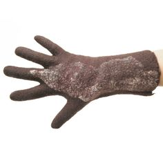 SALE 25% OFF Felted gloves seamless handmade by vilnone on Etsy