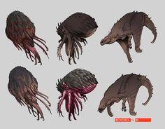 Lava Fauna Concepts, Stephen Oakley on ArtStation at https://www.artstation.com/artwork/lava-fauna-concepts