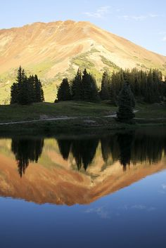 'Reflection at 11,000 feet.' Somewhere in the Gunnison National Forest, Colorado. Photo: Foster Huntington, A Restless Transplant Blog, August 30, 2011