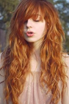 Beautiful copper curly hair
