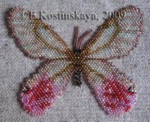 Butterfly Cithaerias Aurorina Pattern by Katherina Kostinsky at Bead-Patterns.com
