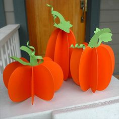 Paper Pumpkin Threesome - Free Patterns