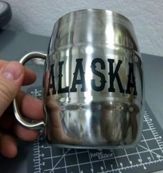 "Alaska Stainless Steel ""survival cup"" coffee mug! great alaska souvenir!"