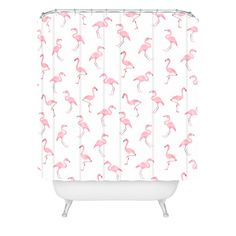 Wonder Forest Fantastic Flamingos Shower Curtain | DENY Designs Home Accessories