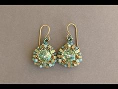 Greenish Earrings - Beaded earrings tutorial by Sidonia's handmade jewelry