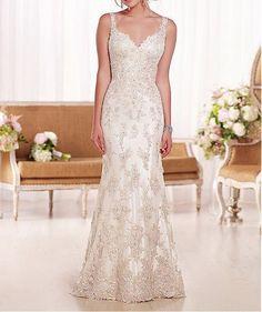Vintage Inspired Wedding Dress by SunsetNirvana on Etsy