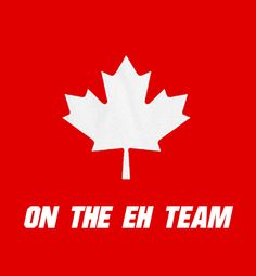 Proud to be Canadian...