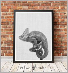 Canvas PicturesAnimal Print Сhameleon Canvas Print by CanvasGrape