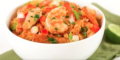 Slow Cooker Clean Eating Jambalaya - Healthy with some spice! YUM! www.GetCrocked.com