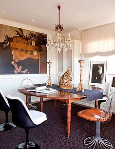 Mixing photographs and paintings via Domaine Home