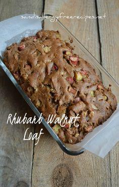 Rhubarb Walnut Loaf (Gluten Free/ Dairy Free/ Refined Sugar Free/ Vegan)