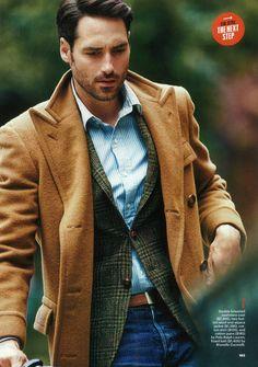 Tweed and Camel Overcoat