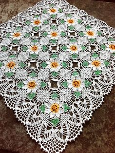 This beautiful square white doily with hand-painted elements. Will be a great decoration for your home. Will be adorable decoration at your home, will look great on any table. Made of cotton, hand wash. Size:58×58cm (22,8 ×22.8) Thank you for your interest in my shop