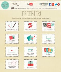 Quilting Freebies from ConnectingThreads.com