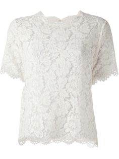 Valentino Floral Lace Blouse - Mazzoni - Farfetch.com