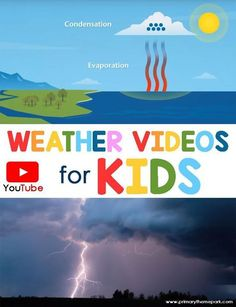 This collection of You Tube weather videos is a perfect addition to a weather unit! 1st Grade Science, Kindergarten Science, Elementary Science, Science Classroom, Teaching Science, Science For Kids, Science Activities, Earth Science, Science Experiments