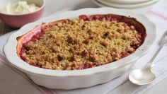 James Martin's classic rhubarb crumble recipe will take you to comfort food heaven in six short steps and under an hour.