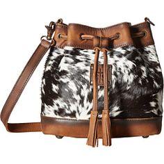 STS Ranchwear The Classic Bucket Bag Handbags Cowhide/Tornado Brown Cowhide Bag, Cowhide Leather, Calf Leather, Fur Purse, Cowgirl Style, Cowgirl Bling, Western Purses, Cute Bags, Purses And Handbags