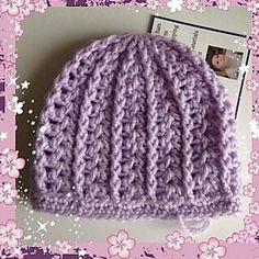 Girly preemie/Newborn Hat ~ free pattern ᛡ